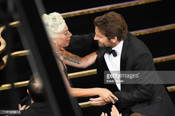 Bradley Cooper and Lady Gaga onstage during the 91st Annual Academy Awards at Dolby Theatre on February 24 2019 in Hollywood California