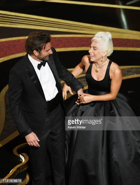 Bradley Cooper and Lady Gaga perform onstage during the 91st Annual Academy Awards at Dolby Theatre on February 24 2019 in Hollywood California