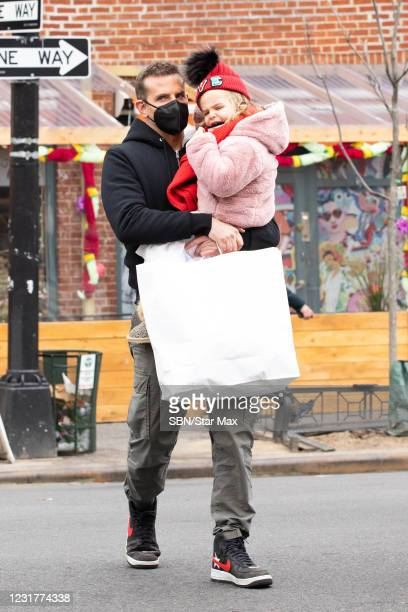 Bradley Cooper and Lea Cooper are seen on March 17, 2021 in New York City.