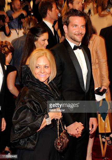 Bradley Cooper and mother Gloria Cooper attends the Alexander McQueen Savage Beauty Costume Institute Gala at The Metropolitan Museum of Art on May 2...