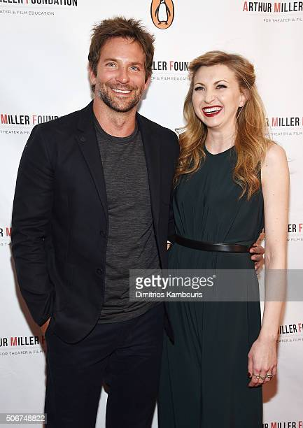 Bradley Cooper and Nina Arianda attend Arthur Miller One Night 100 Years Benefit at Lyceum Theatre on January 25 2016 in New York City