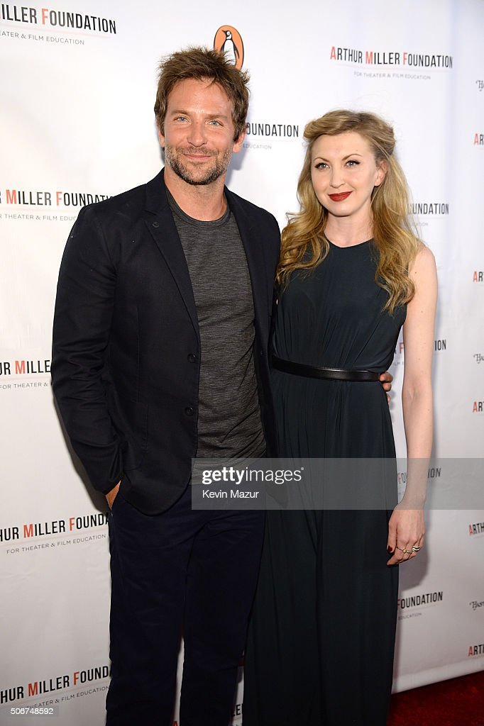Bradley Cooper and Nina Arianda attend the Arthur Miller - One Night 100 Years Benefit at Lyceum Theatre on January 25, 2016 in New York City.