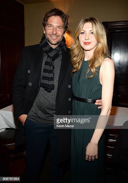 Bradley Cooper and Nina Arianda attend the Arthur Miller One Night 100 Years Benefit at Lyceum Theatre on January 25 2016 in New York City