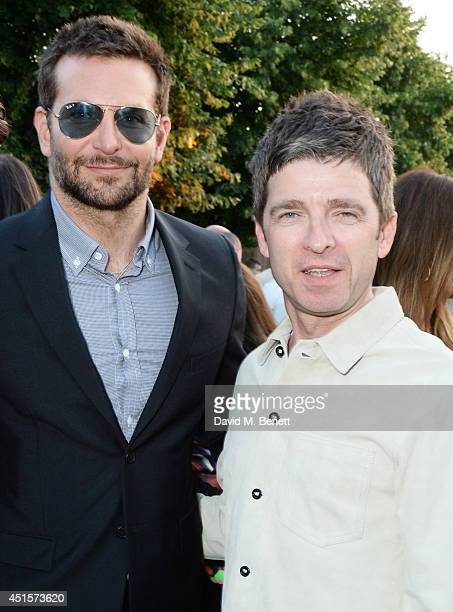 Bradley Cooper and Noel Gallagher attend The Serpentine Gallery Summer Party cohosted by Brioni at The Serpentine Gallery on July 1 2014 in London...