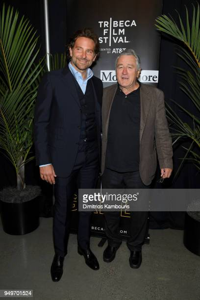 Bradley Cooper and Robert De Niro attend the Storytellers Bradley Cooper Robert DeNiro talk during 2018 Tribeca Film Festival at Spring Studios on...