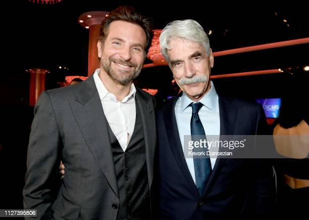 Bradley Cooper and Sam Elliot attend the 91st Oscars Nominees Luncheon at The Beverly Hilton Hotel on February 04 2019 in Beverly Hills California