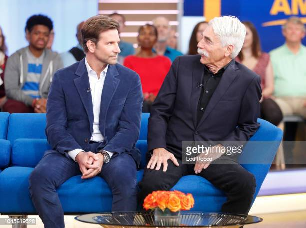 AMERICA Bradley Cooper and Sam Elliott are guests on Good Morning America airing Wednesday October 3 2018 on Walt Disney Television via Getty Images...