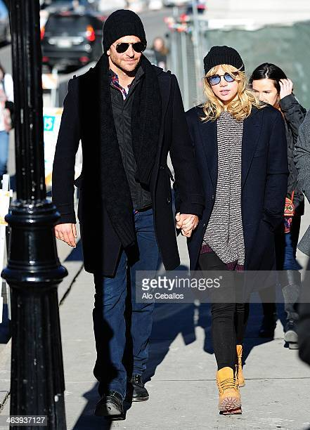 Bradley Cooper and Suki Waterhouse are seen at Sundance Festival on January 19 2014 in Park City Utah