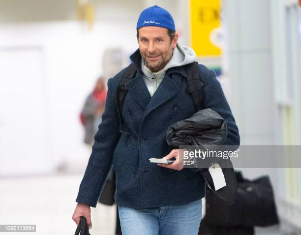 Bradley Cooper arrives at JFK airport on January 18 2019 in New York City