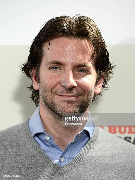 Bradley Cooper attends a photocall for 'Silver Linings Playbook' at the Santo Mauro Hotel on January 16 2013 in Madrid Spain