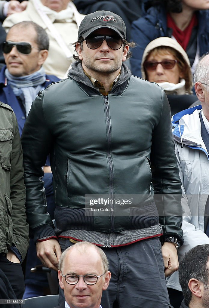 Bradley Cooper attends day 8 of the French Open 2015 at Roland Garros stadium on May 31, 2015 in Paris, France.