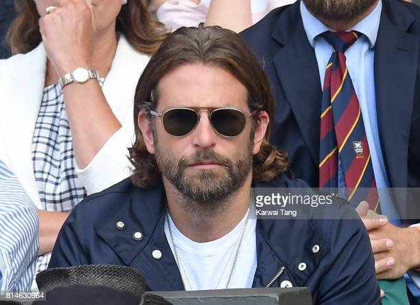 Bradley Cooper attends day eleven of the Wimbledon Tennis Championships at the All England Lawn Tennis and Croquet Club on July 14 2017 in London...