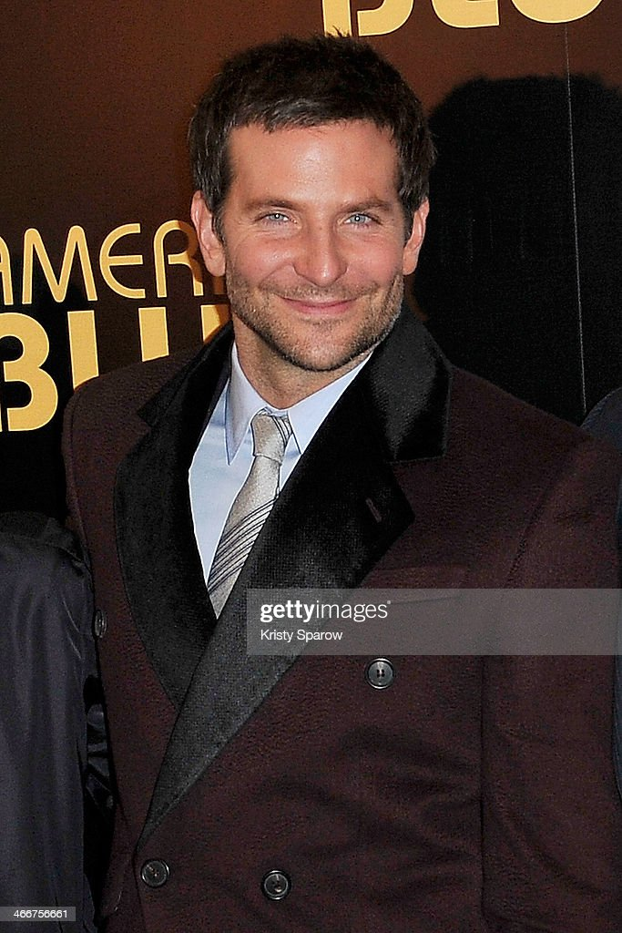 Bradley Cooper attends the 'American Bluff' Paris Premiere at Cinema UGC Normandie on February 3, 2014 in Paris, France.