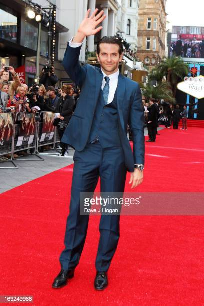 Bradley Cooper attends the European Premiere of 'The Hangover Part III' at The Empire Leicester Square on May 22 2013 in London England