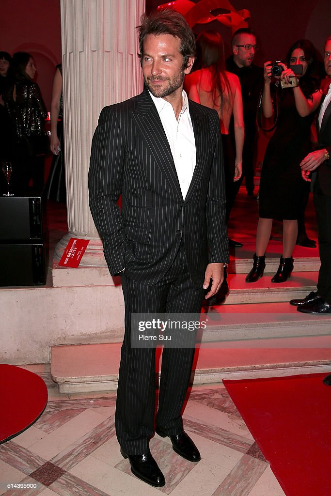 Bradley Cooper attends the L'Oreal Red Obsession Party - Photocall as part of the Paris Fashion Week Womenswear Fall/Winter 2016/2017 on March 8, 2016 in Paris, France.