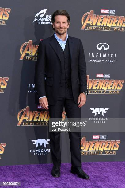 Bradley Cooper attends the premiere of Disney and Marvel's 'Avengers Infinity War' on April 23 2018 in Los Angeles California
