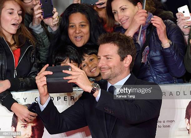 Bradley Cooper attends the UK Film Premiere of 'Burnt' at Vue West End on October 28, 2015 in London, England.