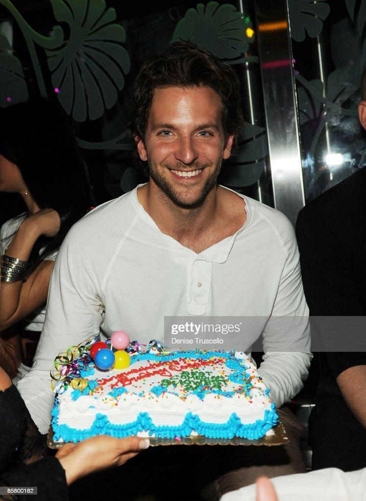 Bradley Cooper celebrates his birthday at The Bank Nightclub on April 3, 2009 in Las Vegas, Nevada.