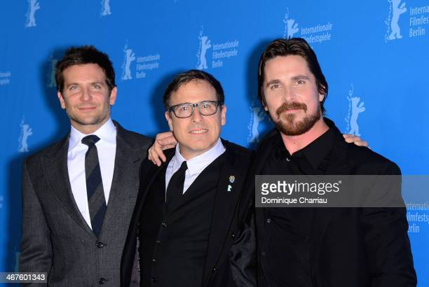 Bradley Cooper David O Russell and Christian Bale attend the 'American Hustle' photocall during 64th Berlinale International Film Festival at Grand...
