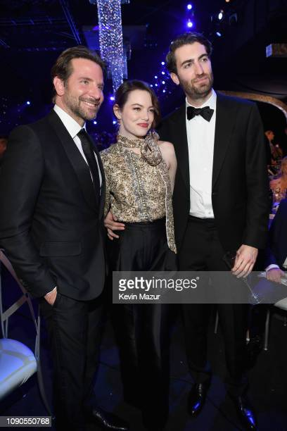 Bradley Cooper Emma Stone and Dave McCary attend the 25th Annual Screen Actors Guild Awards at The Shrine Auditorium on January 27 2019 in Los...