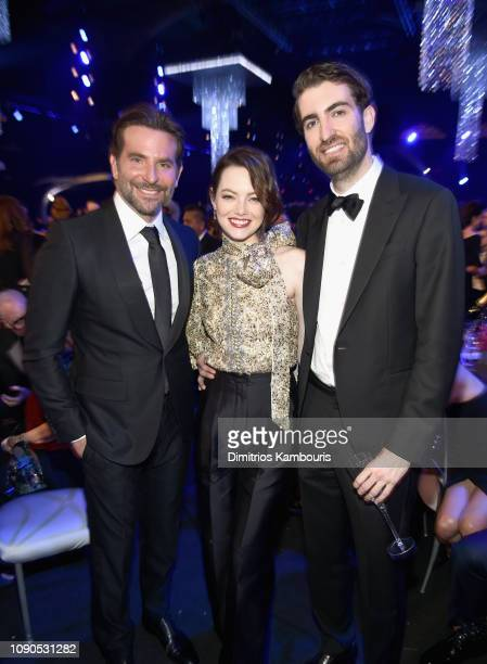 Bradley Cooper Emma Stone and Dave McCary during the 25th Annual Screen Actors Guild Awards at The Shrine Auditorium on January 27 2019 in Los...
