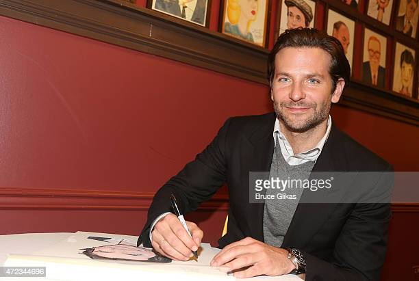 Bradley Cooper gets honored with a Sardi's Caricature in honor of his performance as John Merrick in The Elephant Man on Broadway at the Unveiling at...