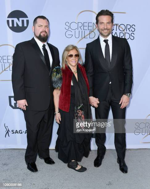 Bradley Cooper Gloria Campano and guest attend the 25th Annual Screen Actors Guild Awards at The Shrine Auditorium on January 27 2019 in Los Angeles...