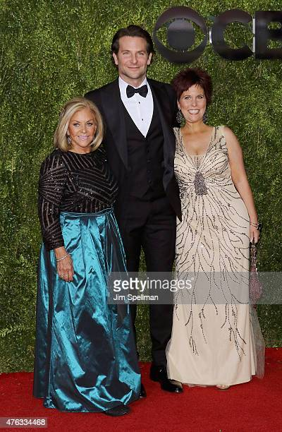Bradley Cooper Gloria Campano and Holly Cooper attend American Theatre Wing's 69th Annual Tony Awards at Radio City Music Hall on June 7 2015 in New...