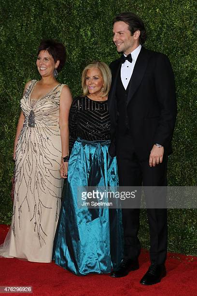 Bradley Cooper Gloria Campano and Holly Cooper attend the American Theatre Wing's 69th Annual Tony Awards at Radio City Music Hall on June 7 2015 in...