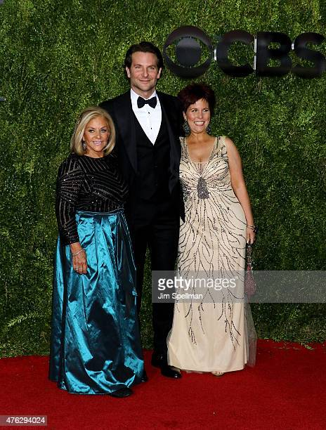 Bradley Cooper Gloria Campano left and Holly Cooper attend the American Theatre Wing's 69th Annual Tony Awards at Radio City Music Hall on June 7...