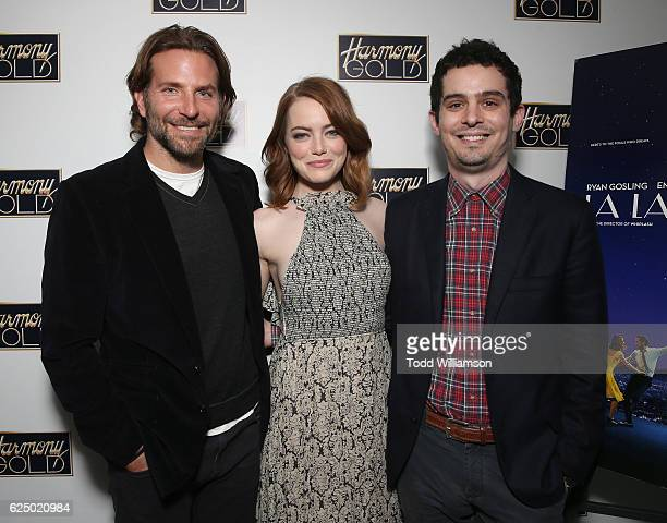 Bradley Cooper hosts a Special Screening of Lionsgate's LA LA LAND with Emma Stone and Director Damien Chazelle on November 21 2016 in Los Angeles...
