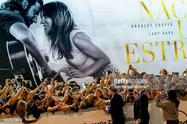 Bradley Cooper is seen arriving at Maria Cristina Hotel during 66th San Sebastian International Film Festival on September 28, 2018 in San Sebastian,...
