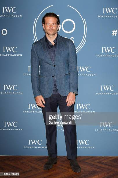 Bradley Cooper is seen at IWC Schaffhausen at SIHH 2018 on January 16 2018 in Geneva Switzerland