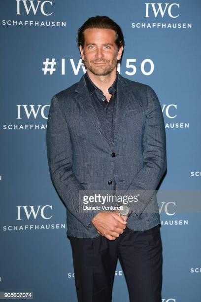 Bradley Cooper is seen at IWC Schaffhausen at SIHH 2018 on January 16 2018 in Geneva Switzerland