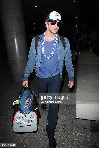 Bradley Cooper is seen at LAX on January 10 2016 in Los Angeles California