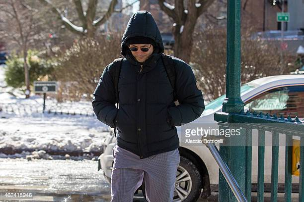Bradley Cooper is seen heading to a subway station in TriBeCa on January 28 2015 in New York City