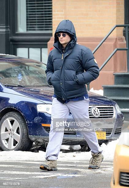 Bradley Cooper is seen in New York City on February 04 2015 in New York City
