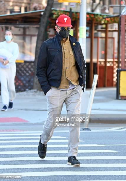 Bradley Cooper is seen in SoHo on April 27, 2021 in New York City.