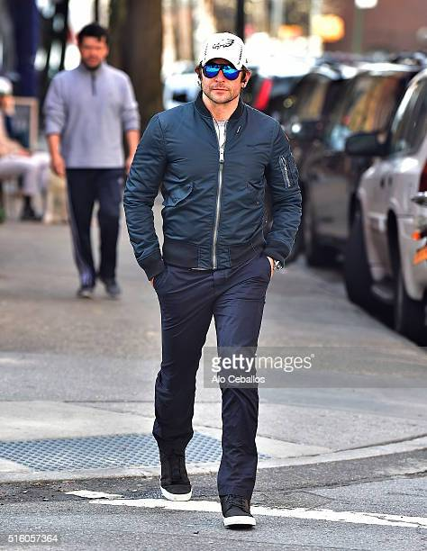 Bradley Cooper is seen in the West Village on March 16 2016 in New York City