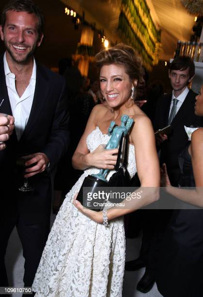 Bradley Cooper Jennifer Esposito and DJ Qualls during 12th Annual Screen Actors Guild Awards Official After Party hosted by People Magazine and the...