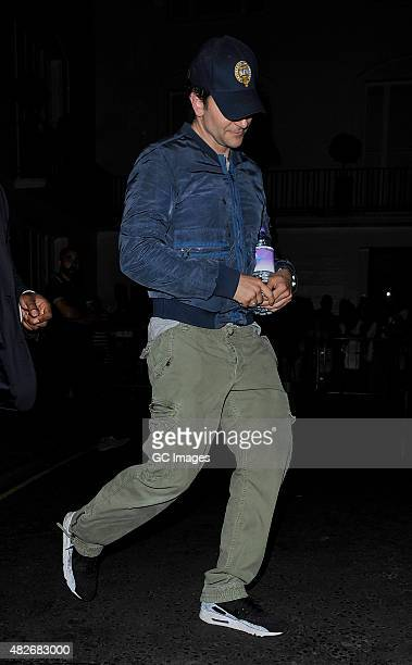 Bradley Cooper leaves The Theatre Royal Haymarket after his latest Elephant Man performance on August 1 2015 in London England