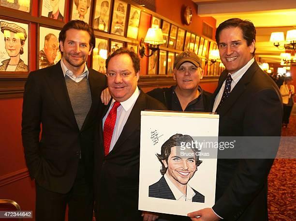 Bradley Cooper Nederlander Producer Jimmy Nederlander Director Scott Ellis and Nederlander Producer Nick Scandalios pose as Cooper gets honored with...