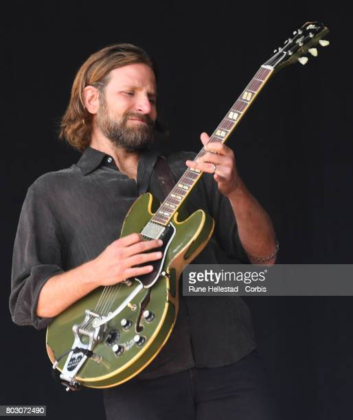 Bradley Cooper performs on day 2 of the Glastonbury Festival 2017 at Worthy Farm Pilton on June 23 2017 in Glastonbury England