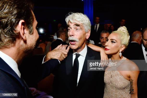 Bradley Cooper Sam Elliott and Lady Gaga attend the 32nd American Cinematheque Award Presentation Honoring Bradley Cooper Presented by GRoW @...