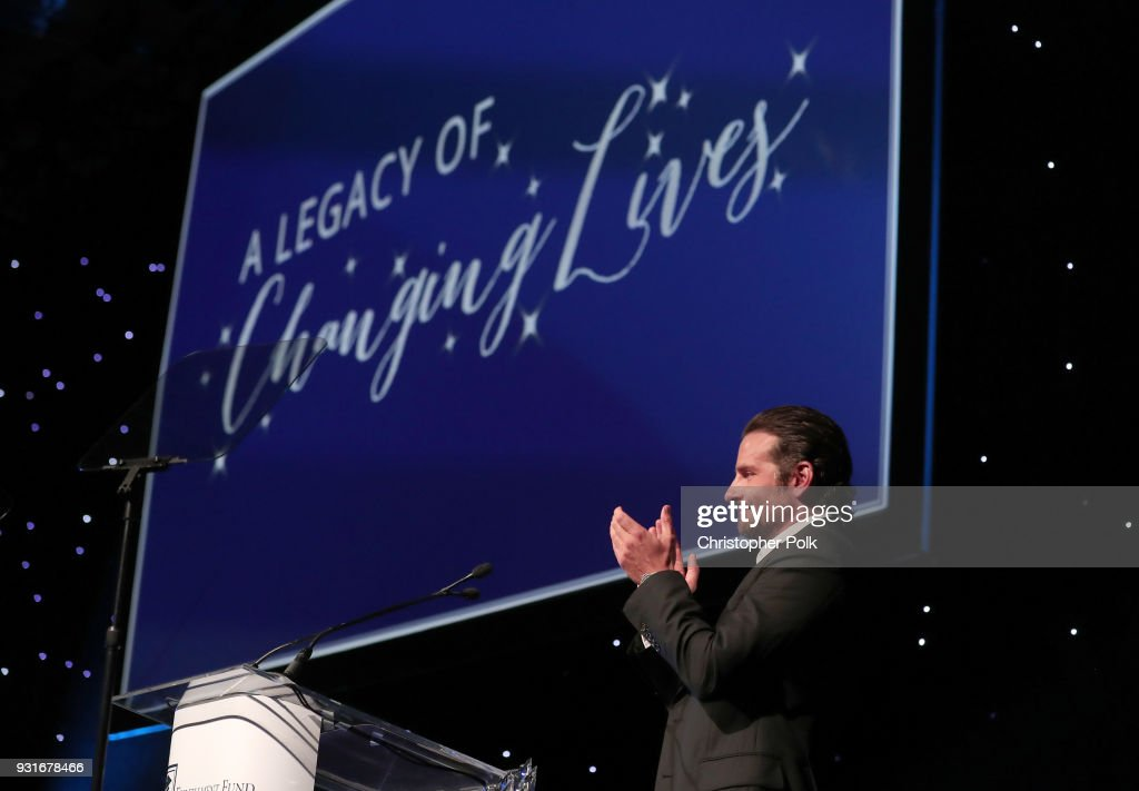 Bradley Cooper speaks onstage during A Legacy Of Changing Lives presented by the Fulfillment Fund at The Ray Dolby Ballroom at Hollywood & Highland Center on March 13, 2018 in Hollywood, California.