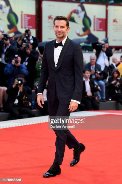Bradley Cooper walks the red carpet ahead of the 'A Star Is Born' screening during the 75th Venice Film Festival at Sala Grande on August 31 2018 in...