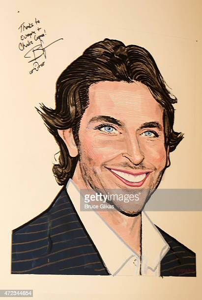 Bradley Cooper's Caricature in honor of his performance as John Merrick in The Elephant Man on Broadway at the Unveiling at Sardi's on May 6 2015 in...