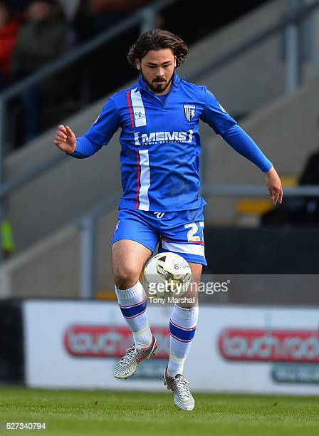 Bradley Dack of Gillingham during the Sky Bet League One match between Burton Albion and Gillingham at Pirelli Stadium on April 30 2016 in...