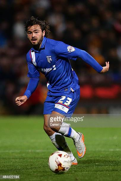Bradley Dack of Gillingham FC controlling the ball during the Sky Bet League One match between Bradford City AFC and Gillingham FC at Coral Windows...