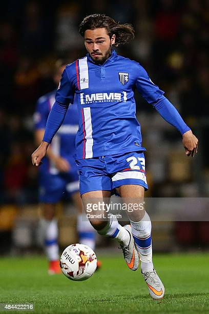 Bradley Dack of Gillingham FC controls the ball during the Sky Bet League One match between Bradford City AFC and Gillingham FC at Coral Windows...